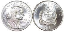 "World Coins - Samoa and Sisifo. CuNi 1 Tala 1970. Proof. ""Visit of Pope Paul VI"""