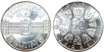 World Coins - Austria. Republic. Comemmorative 50 Schillings 1972. Proof