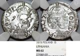 World Coins - Poland. Lithuania. G-Duke Sigismund III (1587-1632). AR Gross 1615. NGC MS62!