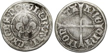 World Coins - France. City issue of Strasbourg. Silver Vierer ND (ca. mid range of 1400's Ad - XV c). VF