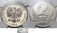 "World Coins - Poland. Nickel Pattern ""PROBA"" 2 zl 1986 MW. NGC MS67"
