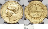 World Coins - Germany: Hannover. George V. Gold 1 Krone 1857 B. NGC AU55, RARE
