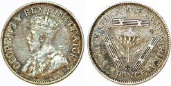 World Coins - South Africa Under Great Britain. George V. AR 3 Pence 1927. About VF