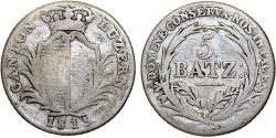 World Coins - Swiss Cantons. Lucerne. AR 5 Batz 1815. Fine+