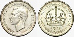 World Coins - British Commonwealth Australia. Silver Crown 1937. AU details