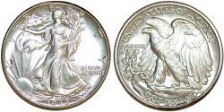 Us Coins - USA. Walking Liberty Half Dollars 1940. Choice UNC