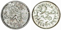 World Coins - Netherlands East Indies. AR 1/10 Gulden 1941. AU.