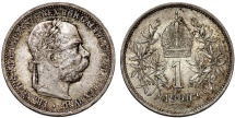 World Coins - Austria. Franz I Josef (1848-1916). Silver Corona 1900. Choice AU, toned, better date