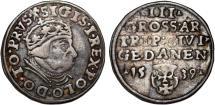 "World Coins - Poland. Danzig. king Sigismund I ""Old"" (1506-1548). AR SCARCE 3 Gross 1539. Nice VF, tone"