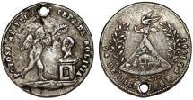 World Coins - Bolivia. Potosi. Silver 1-Sol-Sized Medal 1853, President Belzu. VF