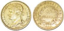 World Coins - GERMANY. KINGDOM OF WESTPHALIA. JÉRÔME NAPOLÉON (1807-1813). AV 20 Franken 1809 C. Choice VF