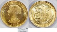 World Coins - CHILE, Republic. 1818-present. AV 100 Pesos – 10 Condores 1926-So. PCGS MS63