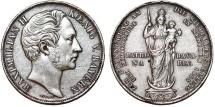 World Coins - Germany. Bavaria. Maximilian II (1848-1864). Silver Madonna 2 Gulden 1855. Good XF