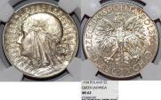 World Coins - Poland. II Republic (1918-1939). AR 5 Zloty 1934. NGC MS62