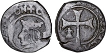 World Coins - Spain. Island of Majorca. Charles II of Spain (1665-1700). Cu 10 Obler ND. Fine+