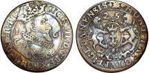 World Coins - Poland. City of Danzig. Sigismund III (1587-1632). Silver 1/4 Taler 1625. VF, toned