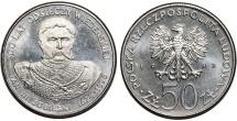 World Coins - Poland. P.R.L. 1952-1989. Ni 50 Zloty 1983. Vienna Victor: King J. Sobieski, UNC