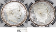 "World Coins - Denmark. Frederic VIII (1906-1912). AR 2 Kroner 1912 VBP. ""Acession of Christian"". NGC MS64"