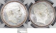 "World Coins - Denmark. Frederic VIII (1906-1912). AR 2 Kroner 1912 VBP. ""Acession of Christian"". NGC MS64"