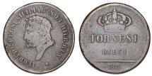 World Coins - Italy. Fernando I. CU 10 Tornesi 1819. Bold VF, Scarce