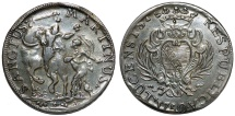 World Coins - Italy. Republic of Lucca. Large Scudo 1750. VF, nice dark patina