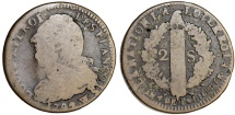 France. King Louis XVI The Last (1774-1792). AE 2 Sols 1792 W. Constitutional issue. Fine+