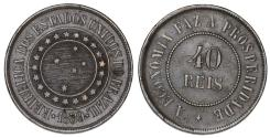 World Coins - Brazil. I Republic. AE 40 Reis 1889. VF+