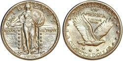 Us Coins - USA. Standing Liberty Quarter 1924 D. Choice AU