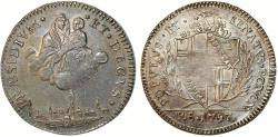 World Coins - Italian Papal States. Bologna. Pope Pio VI (1775-1799). Scarce. Revolutionary Government 5 Paoli (Scudo) 1797. Nice AU