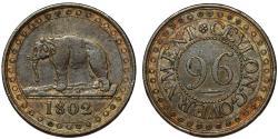 World Coins - CEYLON GOVERNMENT (Sri Lanka). AE 1/96 Rixdollar 1802. Nice Choice VF.