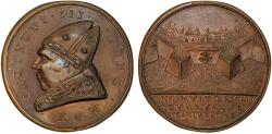 World Coins - Italy. Papal States. Callistus III (Alonso de Borja). (1455-1458). AE Medal Fortifications of Rome. AU