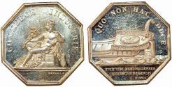 World Coins - France. Bordeaux . Chambre de Commerce. Silver Jeton 19th Century. Choice AU, scarce