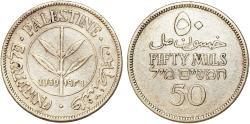 World Coins - British Administration. Palestine. Silver 50 Mils 1939. VF+