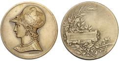World Coins - France. Unawarded pre WWI (ca. 1900) Artistic 48 mm Medal by Desaide/Bartrand. AU