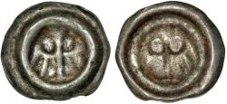 World Coins - Silesia. City of Oppeln. XV c. City coinage. AR Uniface Heller (breactet) ND ( ca. 1420). VF+