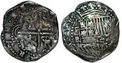 World Coins - BOLIVIA. Cob Silver 2 Reales ND. Potosi. Felipe II. FIne+