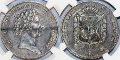 World Coins - Sweden. King Charles XIV Johann (1818-1844). AR Half  Spiece Riksdaler 1831. NGC XF45
