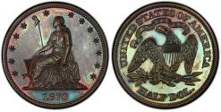 Us Coins - USA. Pattern Coin. Cu 50 Cents 1870. Judd-936. PCGS PR65BN