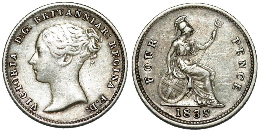 Afbeeldingsresultaat voor 4 pence 1838