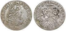 World Coins - Germany. Brandenburg-Prussia. Fredrich III (1688-1701). AR 6 Groschen 1698 SD. Fine+