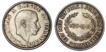 World Coins - Denmark. Christian X. AR 2 Kroner 1945. UNC, Toned