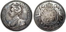 World Coins - Great Britain. Queen of Anne (1702-1714). AR Medal Union of England and Scotland 1707. Toned Choice VF