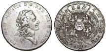 World Coins - Poland. King S. Poniatowski (1764-1795). AR Taler 1775. VF/XF, RARE DATE, gray toning