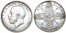 World Coins - Great Britain. King Edward VII (1902-1910). AR Florin 1916. Nice AU