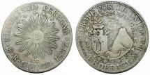 World Coins - PERU, Confederación Perú-Boliviana: (South Peru). RARE AR 8 Reales 1837 BA. RAISED EDGE LETTER TYPE!