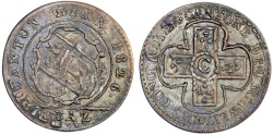 World Coins - Switzerland. Swiss cantons. Bern. Nice Silver Double strike Batz 1826. XF, toned.