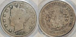 Us Coins - USA. Liberty Head Five Cents 1885. PCGS G04!