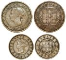 World Coins - Lot of 2 Coins From British Colonies of Jamaica, Fine+, better dates