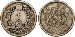 World Coins - Japan. Emperor Mutsuhito (1867-1912). AR 10 Sen 1900. VF+, lightly toned