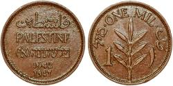World Coins - Palestine. British Administration. AE 1 Mil 1942. XF+